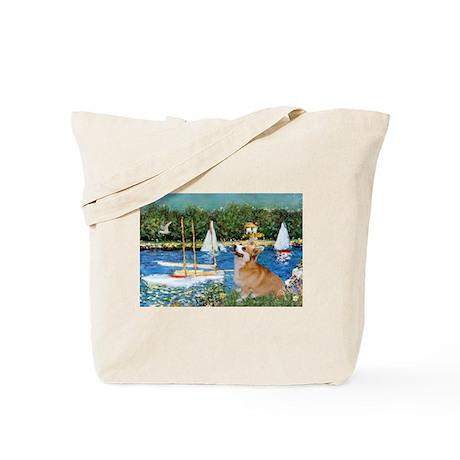 Monet's Sailboats Tote Bag
