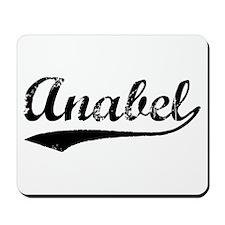 Vintage Anabel (Black) Mousepad