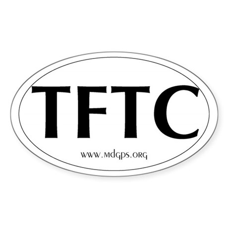 TFTC Oval Sticker