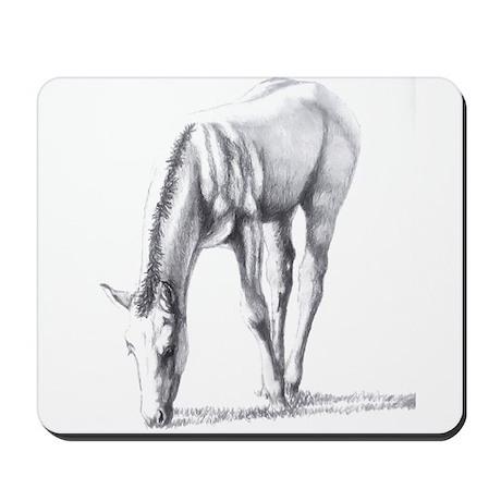 Buckskin Foal Nibbling Mousepad