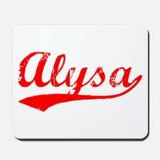 Vintage Alysa (Red) Mousepad