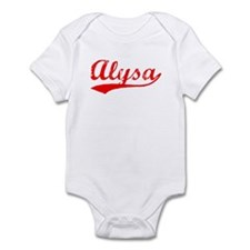Vintage Alysa (Red) Onesie