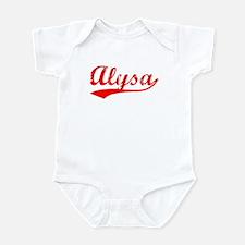 Vintage Alysa (Red) Onesie