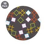 "Geometric Contemporary 3.5"" Button (10 pack)"
