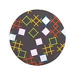 """Geometric Contemporary 3.5"""" Button"""