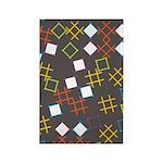 Geometric Contemporary Rectangle Magnet