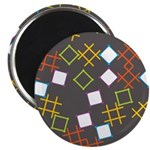 """Geometric Contemporary 2.25"""" Magnet (10 pack)"""