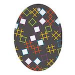 Geometric Contemporary Oval Ornament