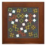 Geometric Contemporary Framed Tile