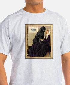 Whistler's Mother & Newfie T-Shirt