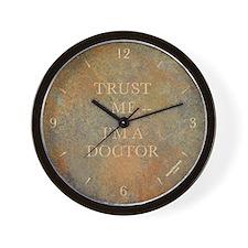 'TRUST ME -- I'M A DOCTOR' wall clock - slate