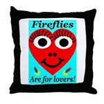 Fireflies are for lovers Throw Pillow