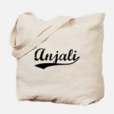 Vintage Anjali (Black) Tote Bag