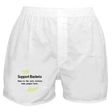 Support Bacteria Humor Boxer Shorts