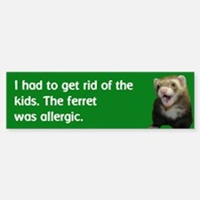 Get rid of kids bumper sticker--avocado