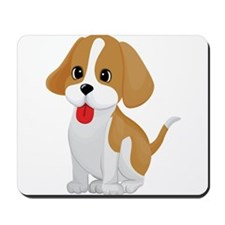 Cute and Cuddly Puppy Mousepad