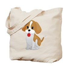 Cute and Cuddly Puppy Tote Bag