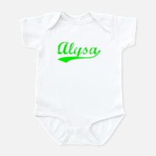 Vintage Alysa (Green) Onesie