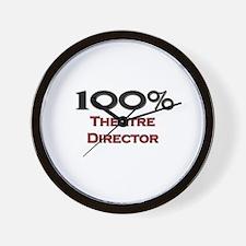 100 Percent Theatre Director Wall Clock