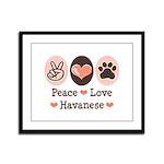 Peace Love Havanese Framed Panel Print