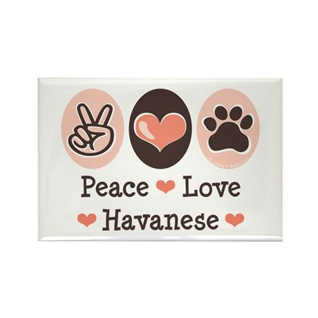 Peace Love Havanese Rectangle Magnet (10 pack)