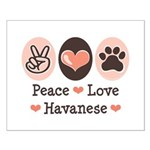 Peace Love Havanese Small Poster