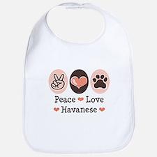 Peace Love Havanese Bib