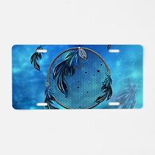 Dreamcatcher in blue colors Aluminum License Plate
