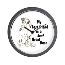 NMQN Deaf BFF Wall Clock