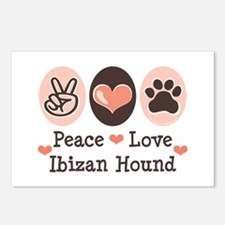 Peace Love Ibizan Hound Postcards (Package of 8)