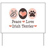 Peace Love Irish Terrier Yard Sign