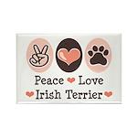 Peace Love Irish Terrier Rectangle Magnet (100 pac