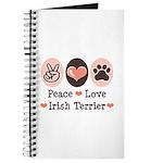 Peace Love Irish Terrier Journal