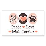 Peace Love Irish Terrier Rectangle Sticker
