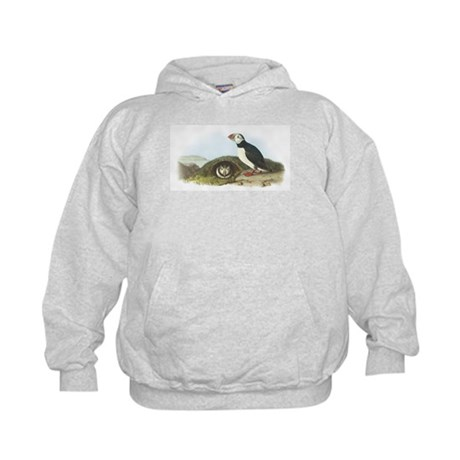 Atlantic Puffin (Front only) Kids Hoodie
