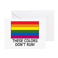 Gay Flag Colors Don't Run Greeting Cards (Package