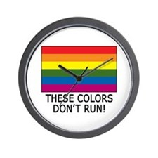 Gay Flag Colors Don't Run Wall Clock