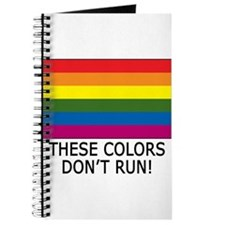 Gay Flag Colors Don't Run Journal
