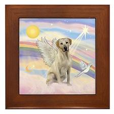 Angel Labrador Framed Tile