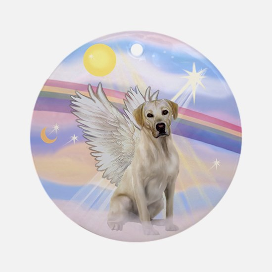 Angel Labrador Ornament (Round)