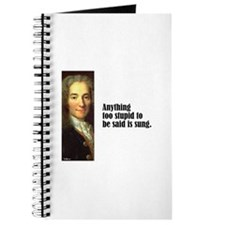 "Voltaire ""Too Stupid"" Journal"
