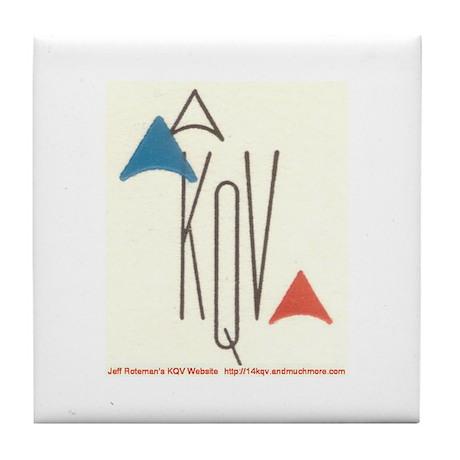 Original 1958 Logo KQV Tile Coaster