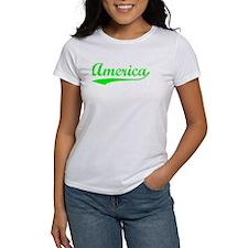 Vintage America (Green) Tee