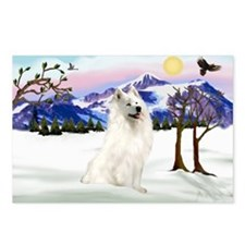 Samoyed in Snow Country Postcards (Package of 8)