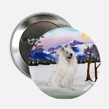 "Samoyed in Snow Country 2.25"" Button"
