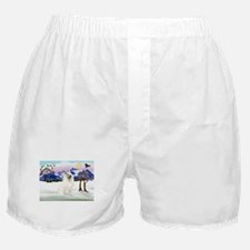 Samoyed in Snow Country Boxer Shorts