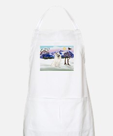 Samoyed in Snow Country BBQ Apron