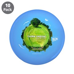 "Think Green Planet 3.5"" Button (10 pack)"