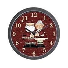 Mr. and Mrs. Santa Wall Clock