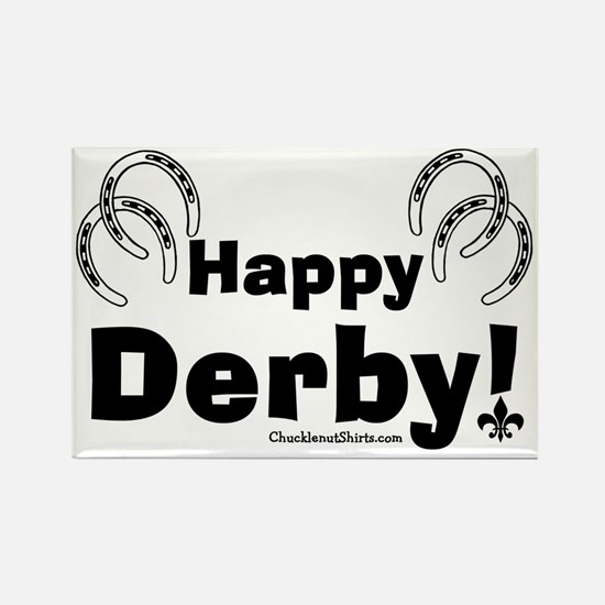 Happy Derby Rectangle Magnet